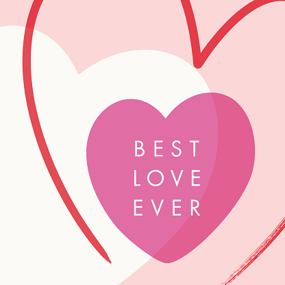Valentine's Day greeting card with hearts background.