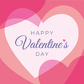 Valentine's Day greeting card with hearts. stock illustration