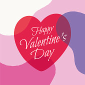 Valentines Day greeting card with hearts. Stock illustration