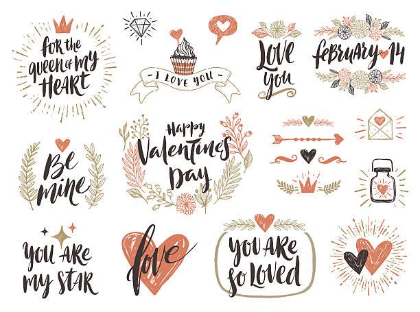 Best True Love Phrase Illustrations, Royalty-Free Vector Graphics