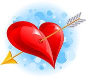 Valentine's Day, Heart, Arrow