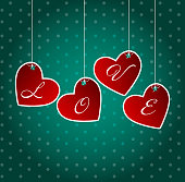 Valentines day heart background, vector illustration   EPS10. Contains transparent objects used for shadows drawing, glare and background. Background to give the gloss.