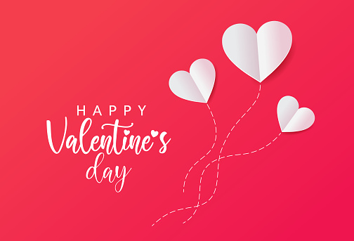 Valentine's Day Heart Balloons Concept