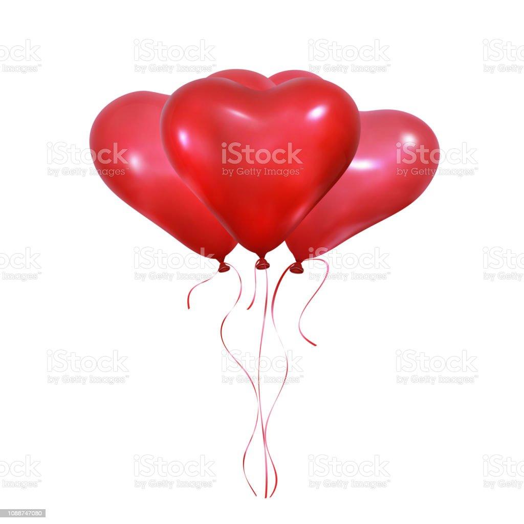 Aftelkalender Voor Valentijnsdag Hart Ballonnen Set Van