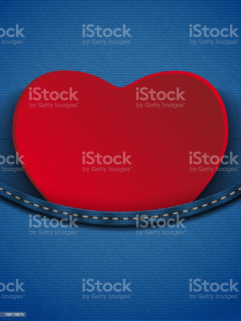 Valentines Day Heart in Jeans Pocket royalty-free valentines day heart in jeans pocket stock vector art & more images of abstract