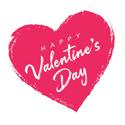 Valentine's Day Heart Label