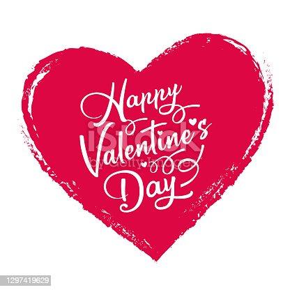 Valentines Day Heart Label
