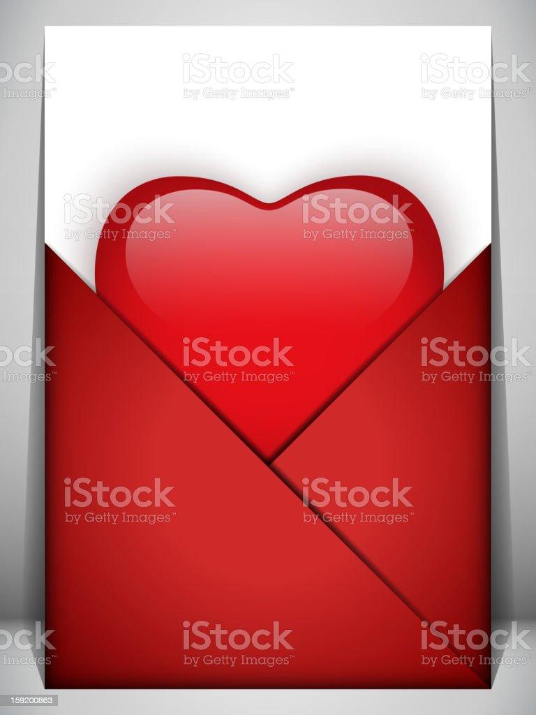Valentine's Day Heart Letter Love royalty-free stock vector art