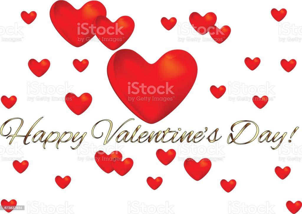 Carte de voeux Saint Valentin coeur amour carte de voeux saint valentin coeur amour – cliparts vectoriels et plus d'images de abstrait libre de droits