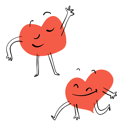 Valentines Day Heart Shape Emoticons and Characters