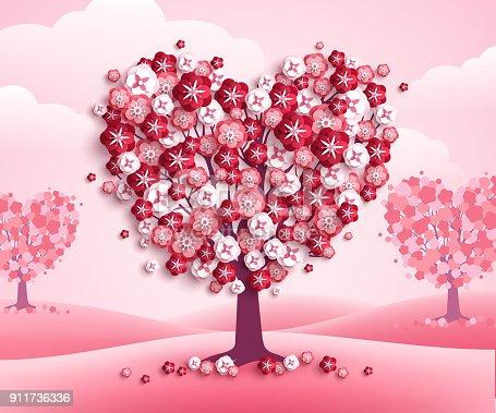Imagen De árboles De Forma De Corazón De San Valentín