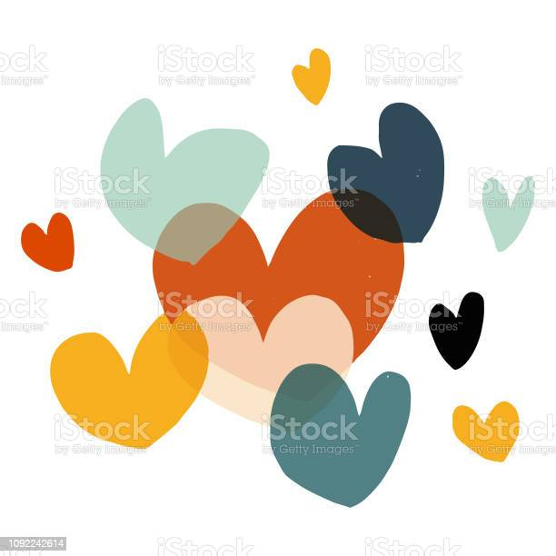 Alla Hjärtans Dag Hjärtat Former-vektorgrafik och fler bilder på Akvarellmålning