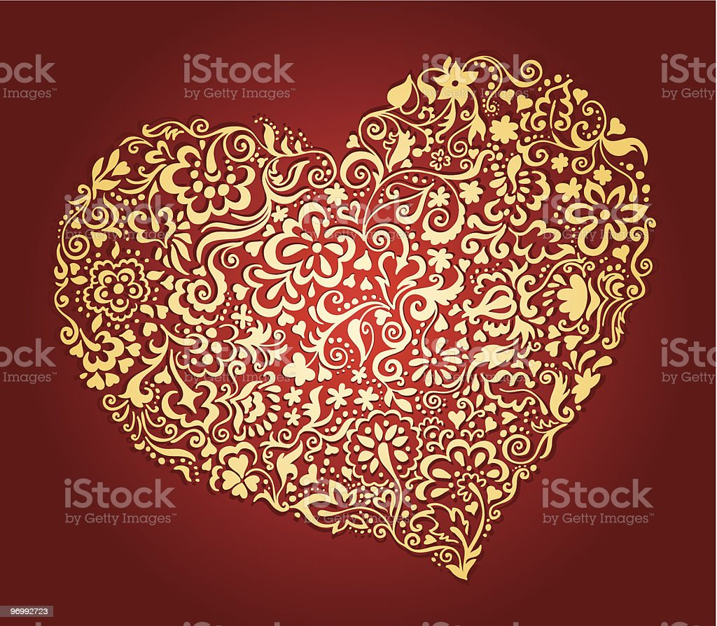 Valentine's day heart royalty-free stock vector art