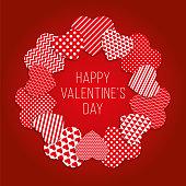 Valentine's Day Heart Wreath - Illustration