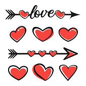 Vector stock illustration of the Valentines Day Hearts