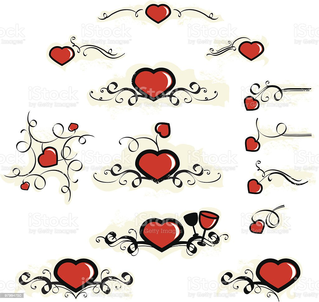 valentine's day hearts royalty-free valentines day hearts stock vector art & more images of black color