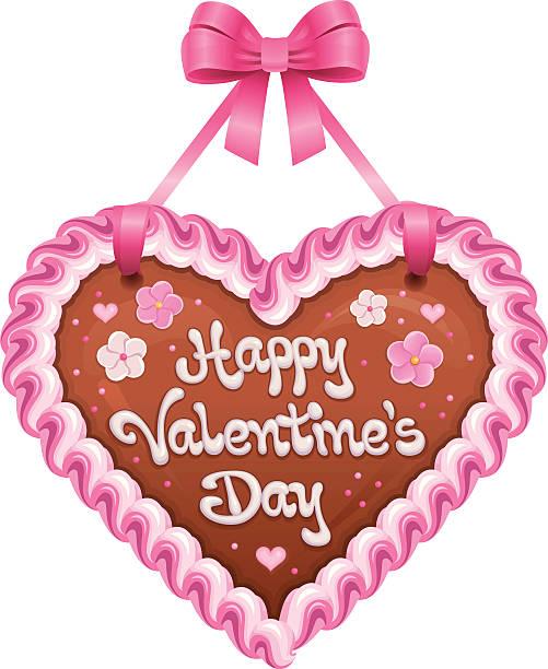 illustrazioni stock, clip art, cartoni animati e icone di tendenza di san valentino cuore lebkuchenherz heartshaped biscotto pan di zenzero - love word