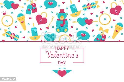 Valentinstag Horizontale Banner Hintergrund Footer Header ...
