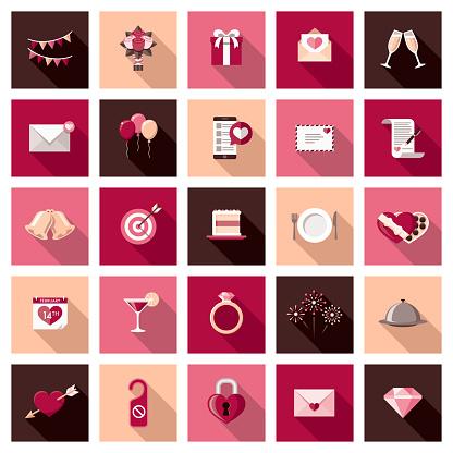 Valentine's Day Icon Set