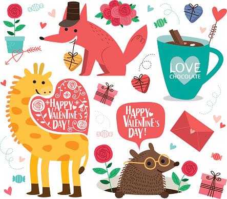 Valentine's Day icon.vector illustration.