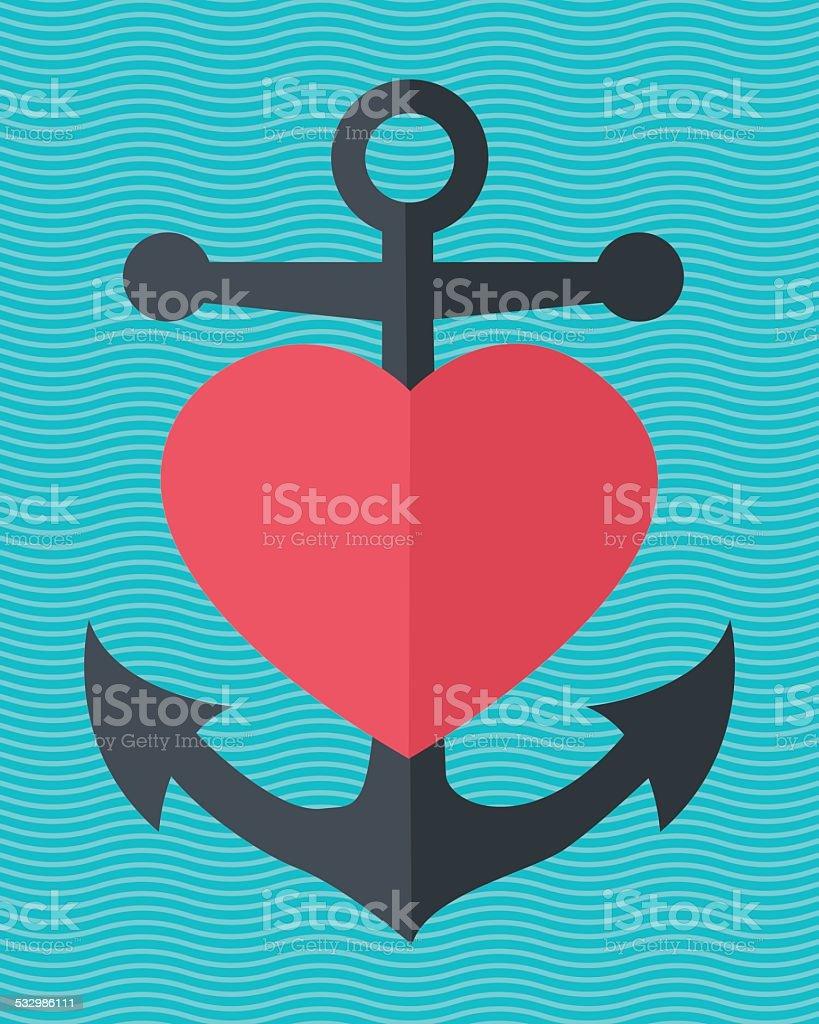 Valentine's day-illustration in flache Design. – Vektorgrafik