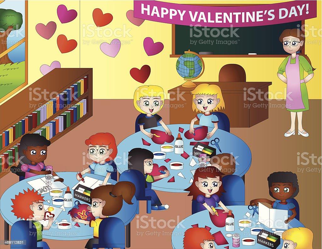 Valentines Day In Einer Bereits Im Kindergarten Mit ...