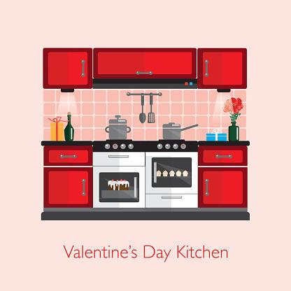 Valentine's Day kitchen
