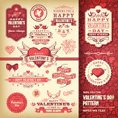 A set of Valentine's Day themed labels, badges and illustrations. EPS 10 file, no transparencies, layered & grouped,