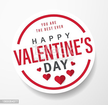 Valentine's Day Label
