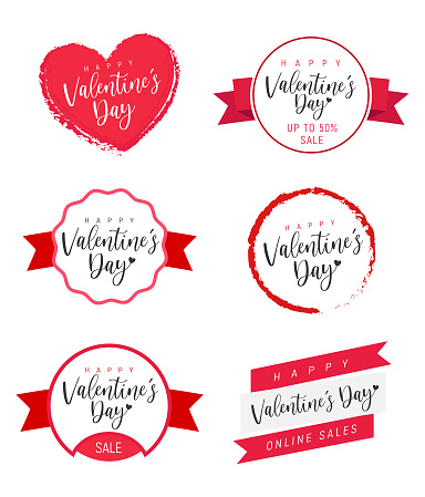 Valentines Day labels