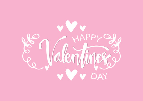 Valentines day lettering background