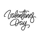 Valentine's Day Lettering Badge