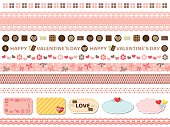 Valentine's day line set