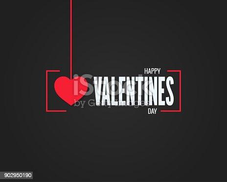 istock valentines day logo on black background 902950190