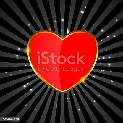 Valentines day love  heart backgroung, vector illustration. EPS10. Contains transparent objects used for shadows drawing, glare and background. Background to give the gloss.