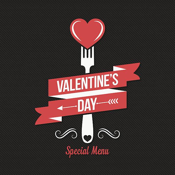 valentines day menu design background. - warmes abendessen stock-grafiken, -clipart, -cartoons und -symbole