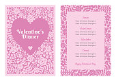 Valentine's Day Menu. - Illustration