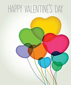 Valentines greeting card message in traditional letter press print style. EPS10 file, best in RGB, CS5 versions in zip