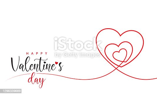 istock Valentine's Day Minimal Heart Design Card 1296339669