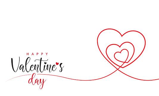Valentine's Day Minimal Heart Design Card