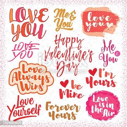 Valentine's Day Modern Script greetings