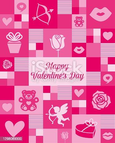 Valentine's Day mosaic greeting card