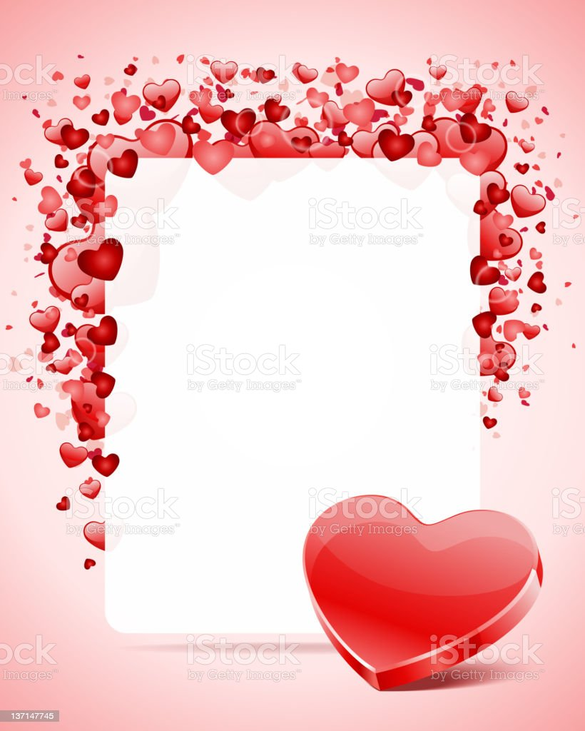 Valentine's day or Wedding card with heart royalty-free stock vector art