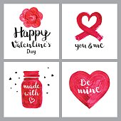 Valentines day paint greetings