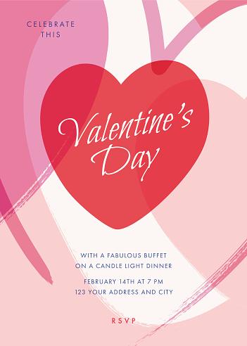 Valentine's Day party invitation.