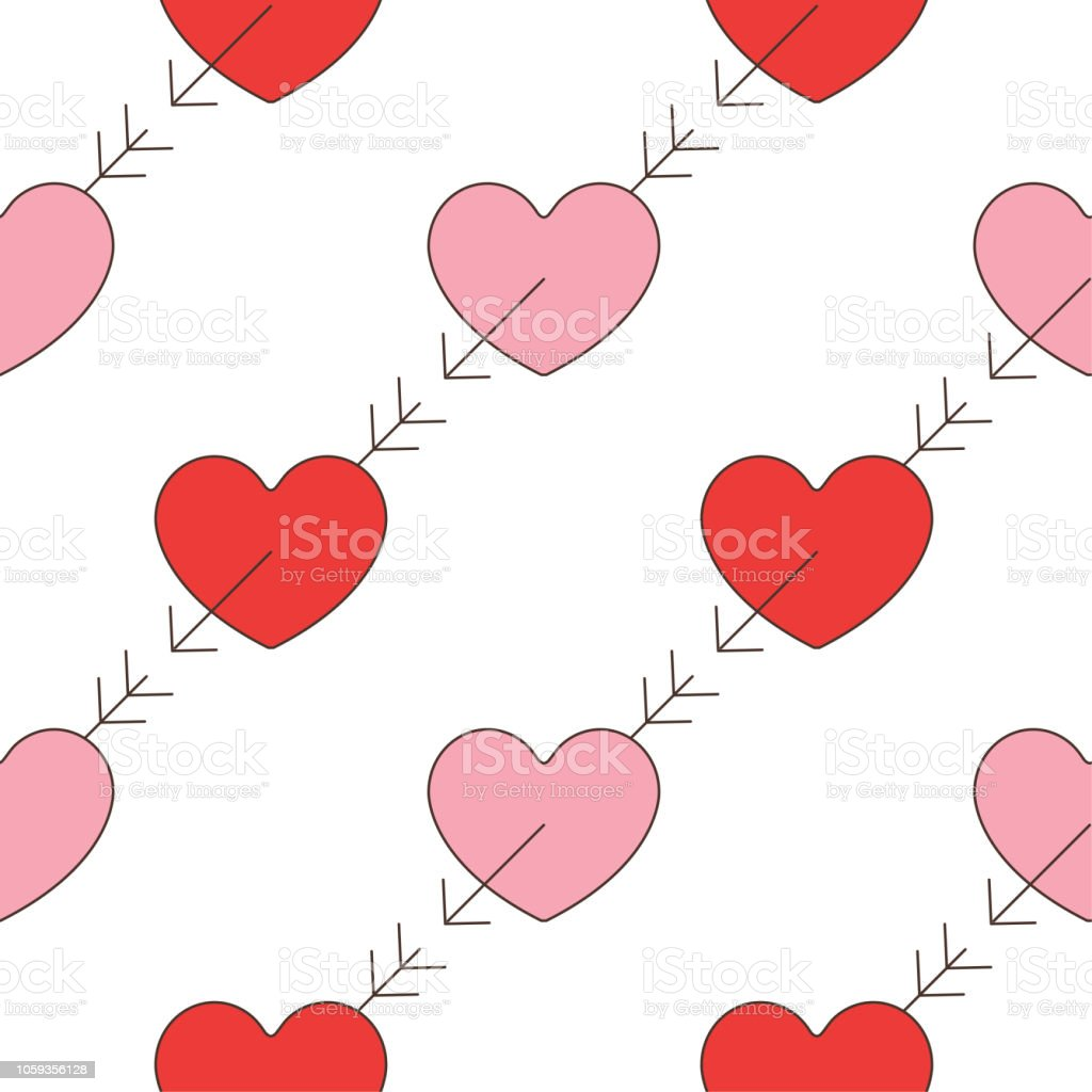 Valentines Day Pattern Stock Vector Art More Images Of Canada