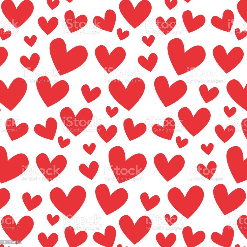 Modele Saint Valentin Avec Des Coeurs Rouges Illustration De