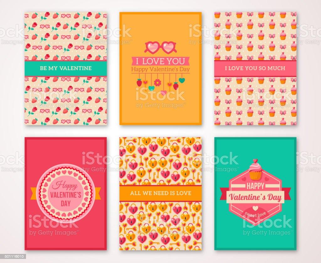 Valentinstagplakat Banner Menüvorlage Stock Vektor Art und mehr ...