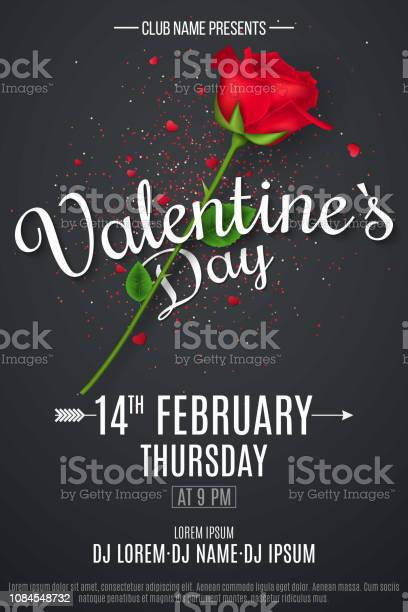 Valentines day poster for party rose on a black background with text vector id1084548732?b=1&k=6&m=1084548732&s=612x612&h=xsxtbdwbfzxio 49lh6nwijhrrk4odqwf0ibzuobfsw=