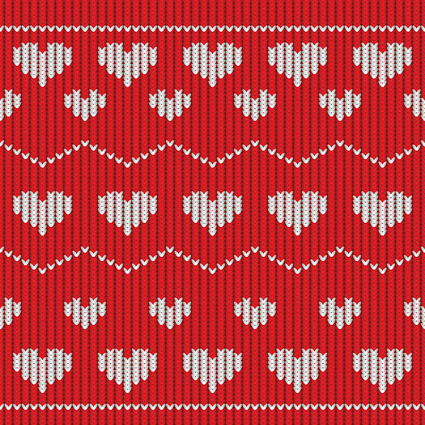 Royalty Free Knit Heart Pattern Pictures Clip Art Vector Images